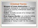 criminal terms