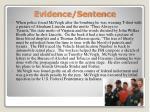evidence sentence