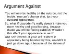 argument against