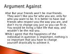 argument against1