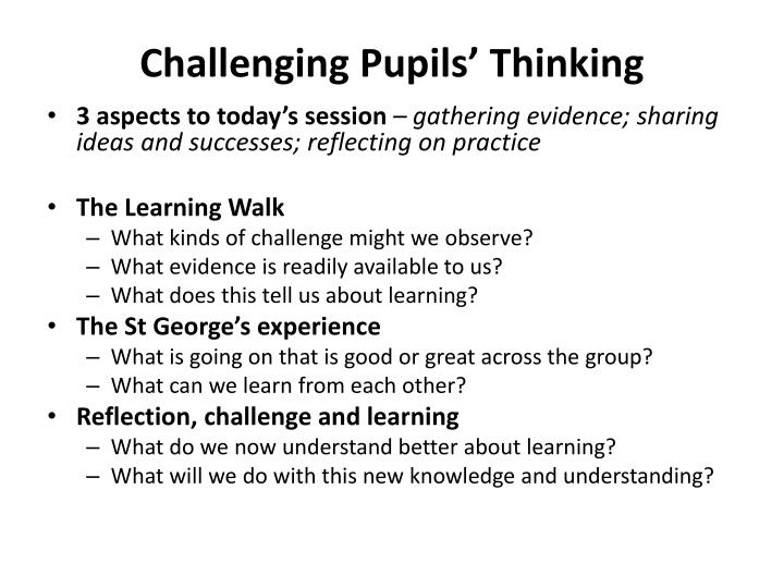 challenging pupils thinking n.