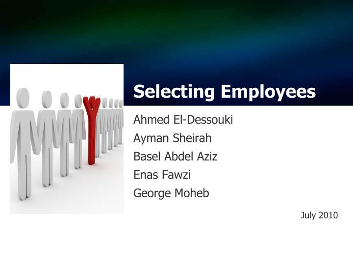 selecting employees n.