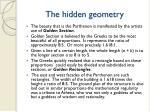 the hidden geometry