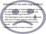deforestation has wide ranging effects