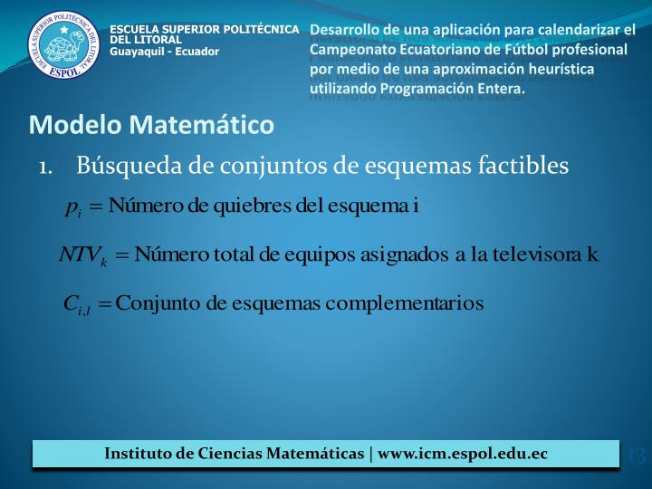 Desarrollo de una aplicación para calendarizar el Campeonato Ecuatoriano de