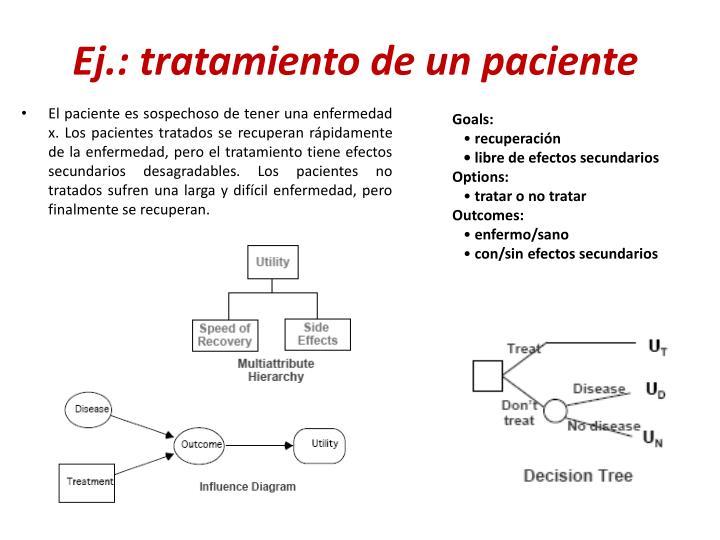 Ej.: tratamiento de un paciente