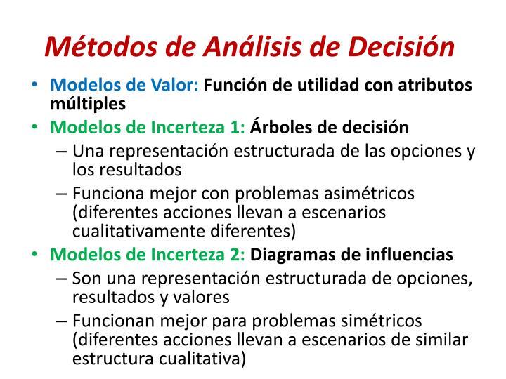 Métodos de Análisis de Decisión