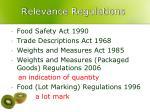 r elevance regulations