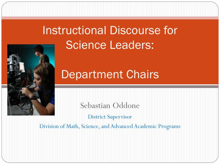 instructional discourse for science leaders department chairs n.