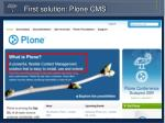 first solution plone cms