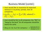 business model contd