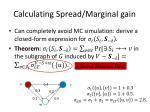 calculating spread marginal gain