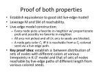 proof of both properties