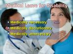 medical leave for disability