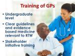 training of gps