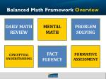 balanced math framework overview