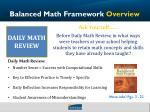 balanced math framework overview1