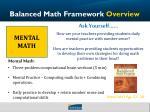 balanced math framework overview2
