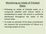 monitoring an intake of tritiated water