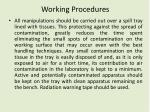 working procedures