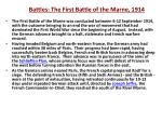 battles the first battle of the marne 1914
