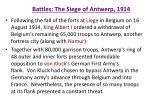 battles the siege of antwerp 1914