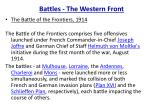 battles the western front