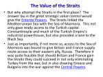 the value of the straits