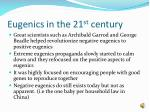 eugenics in the 21 st century