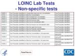 loinc lab tests non specific tests1