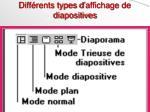 diff rents types d affichage de diapositives