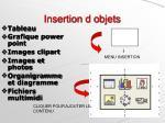 insertion d objets