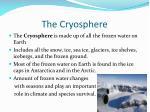 the c ryosphere