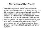 alienation of the people