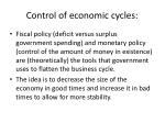 control of economic cycles