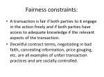 fairness constraints
