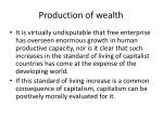 production of wealth