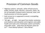 provision of common goods