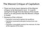the marxist critique of capitalism