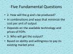 five fundamental questions2