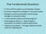 five fundamental questions3