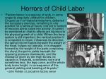 horrors of child labor