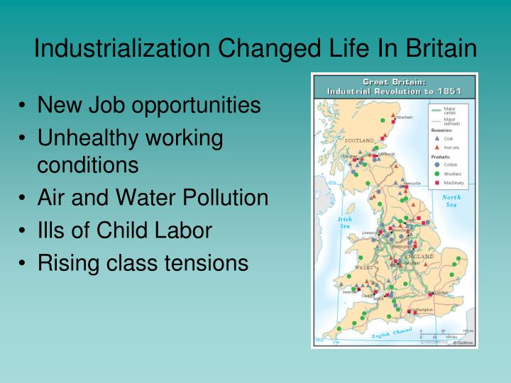 Industrialization Changed Life In Britain