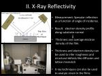 ii x ray reflectivity