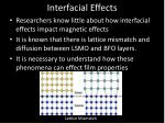 interfacial effects