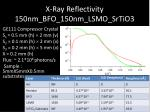 x ray reflectivity 150nm bfo 150nm lsmo srtio3