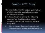 example ccot essay