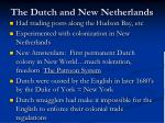 the dutch and new netherlands