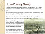 low country slavery
