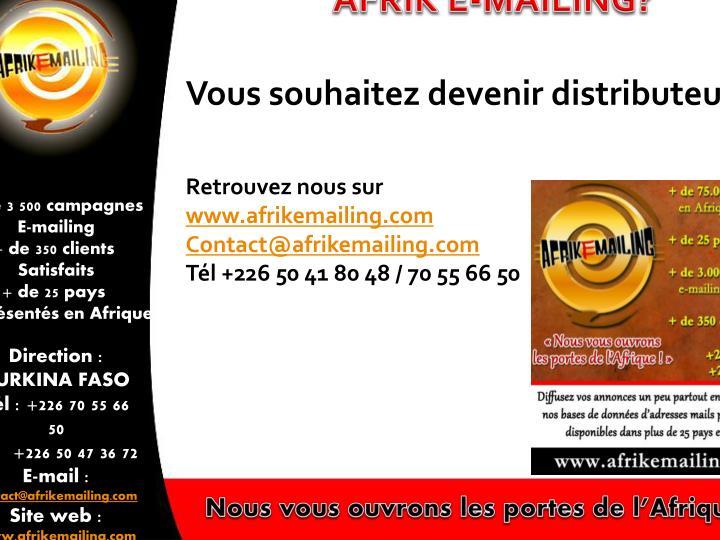 AFRIK E-MAILING?